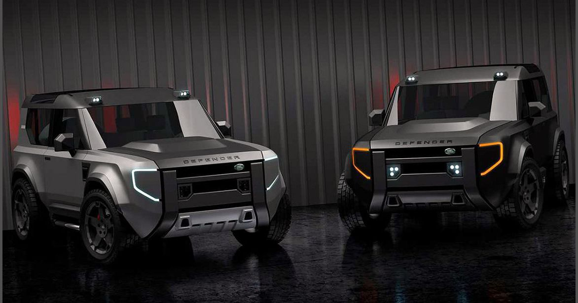 2022 Land Rover Defender Side Blue Your Own Blacked Out