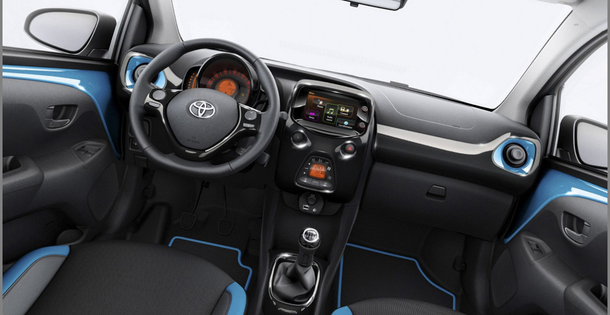 2022 Toyota Aygo Blue Auto 1 Red Wave